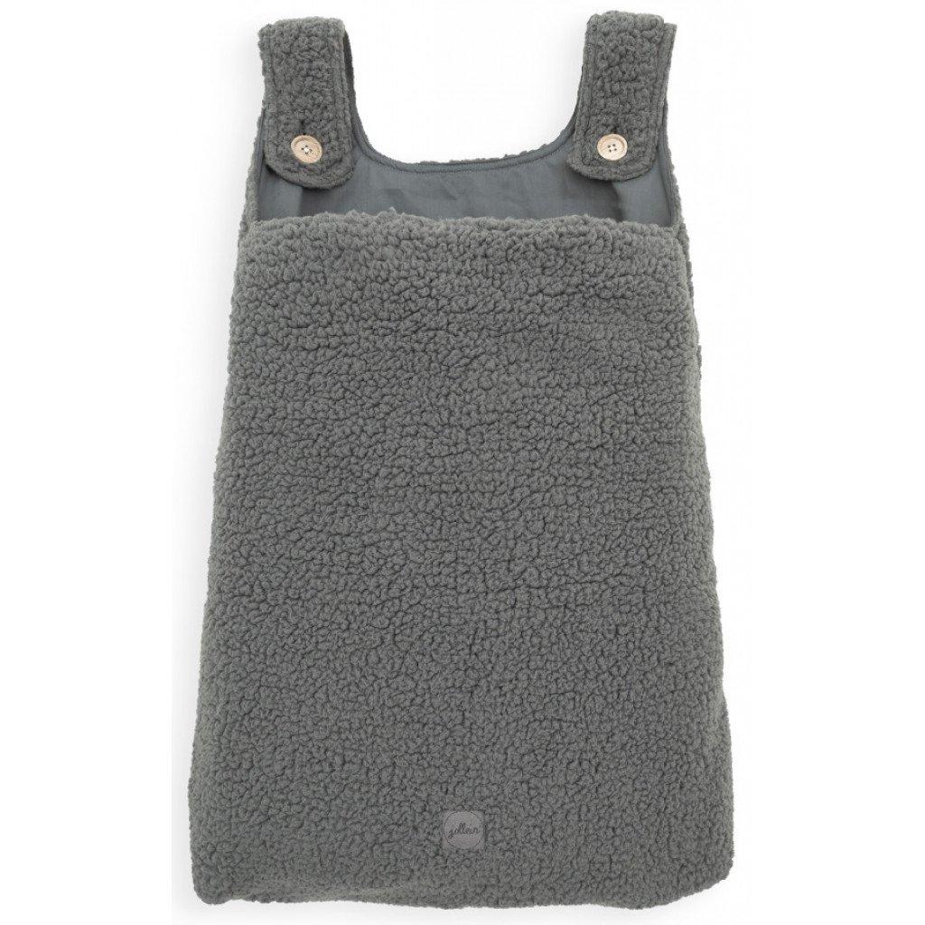 Aufbewahrungstasche Beutel Teddyplüsch grau