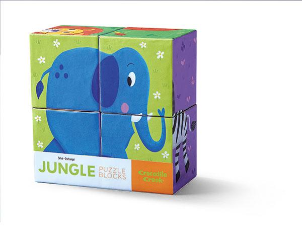 Würfel Puzzle Dschungel 4 Teile