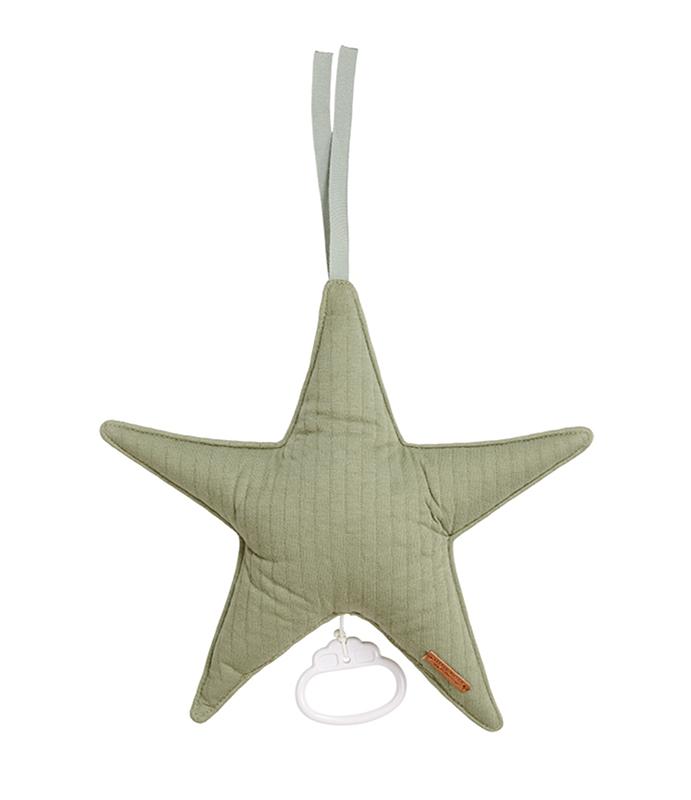 Spieluhr Stern Pure olive grün