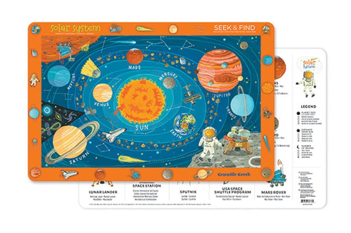 Platzset Tischset Weltraum 28 x 33,5 cm