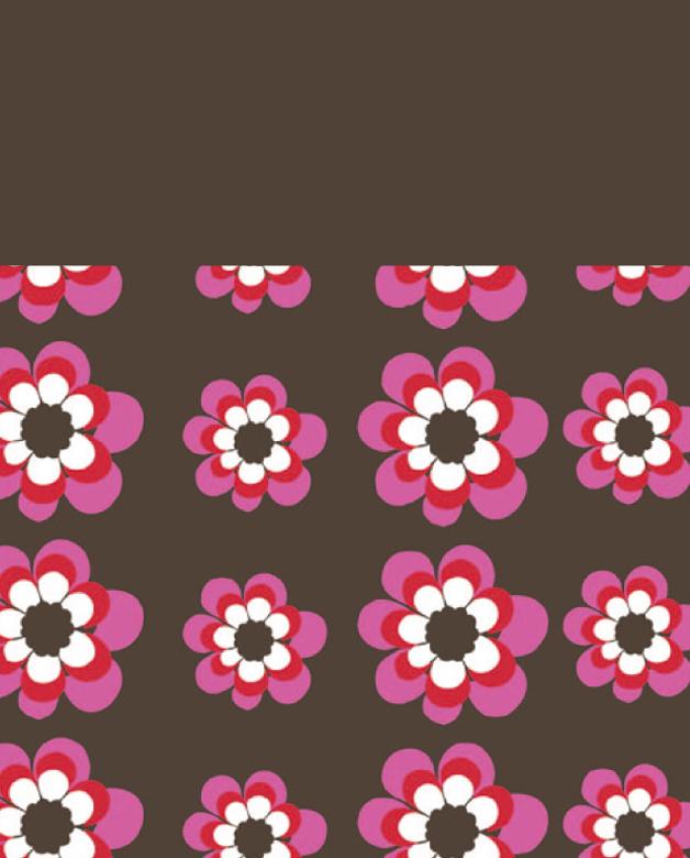 Lässig - Twister Kids Fleece - Flowers pink-choco
