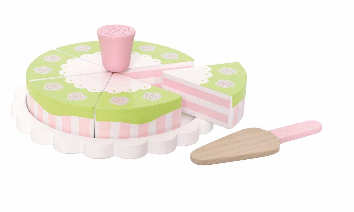 Holz Torte Prinzessinnen Kuchen mit Rosen
