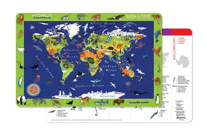 Platzset Tischset Welt 28 x 33,5 cm