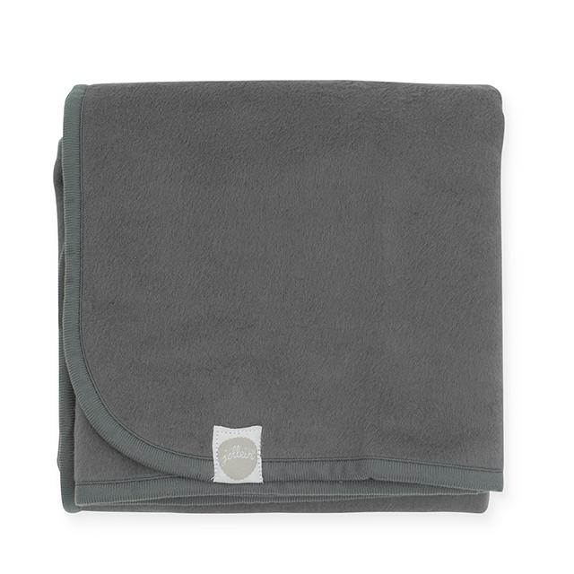 Kinderdecke Basic dunkelgrau (Gr. 100x150 cm)