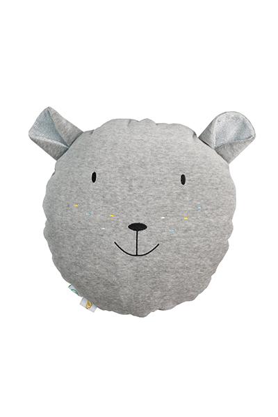 Wigiwama Samt Spielkissen Bär grau 35 cm