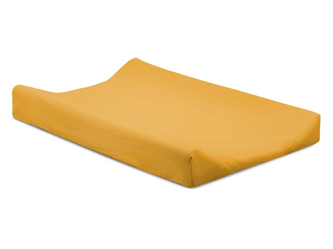 Jollein Wickelauflagenbezug Doppeljersey ocker gelb 50 x 70 cm