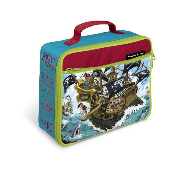 Thermotasche Lunch Bag Pirat blau rot grün