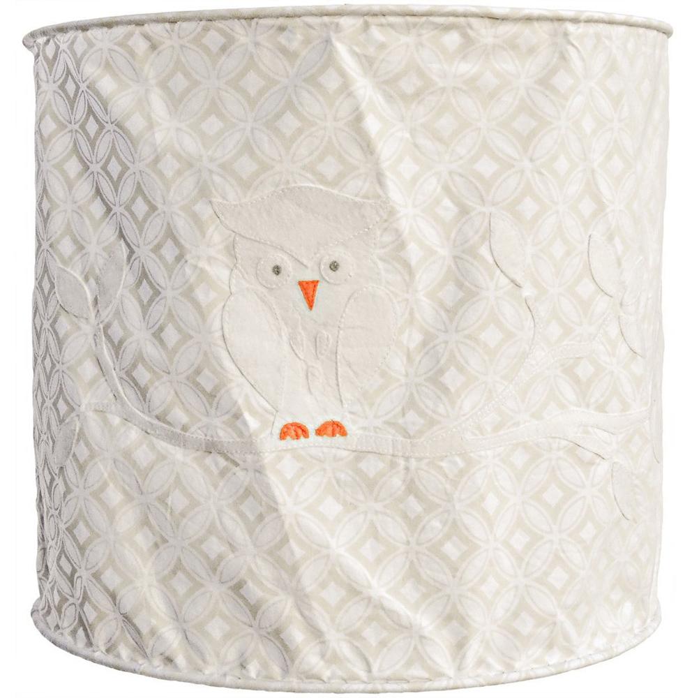 Lampenschirm weiß Eule 35 cm