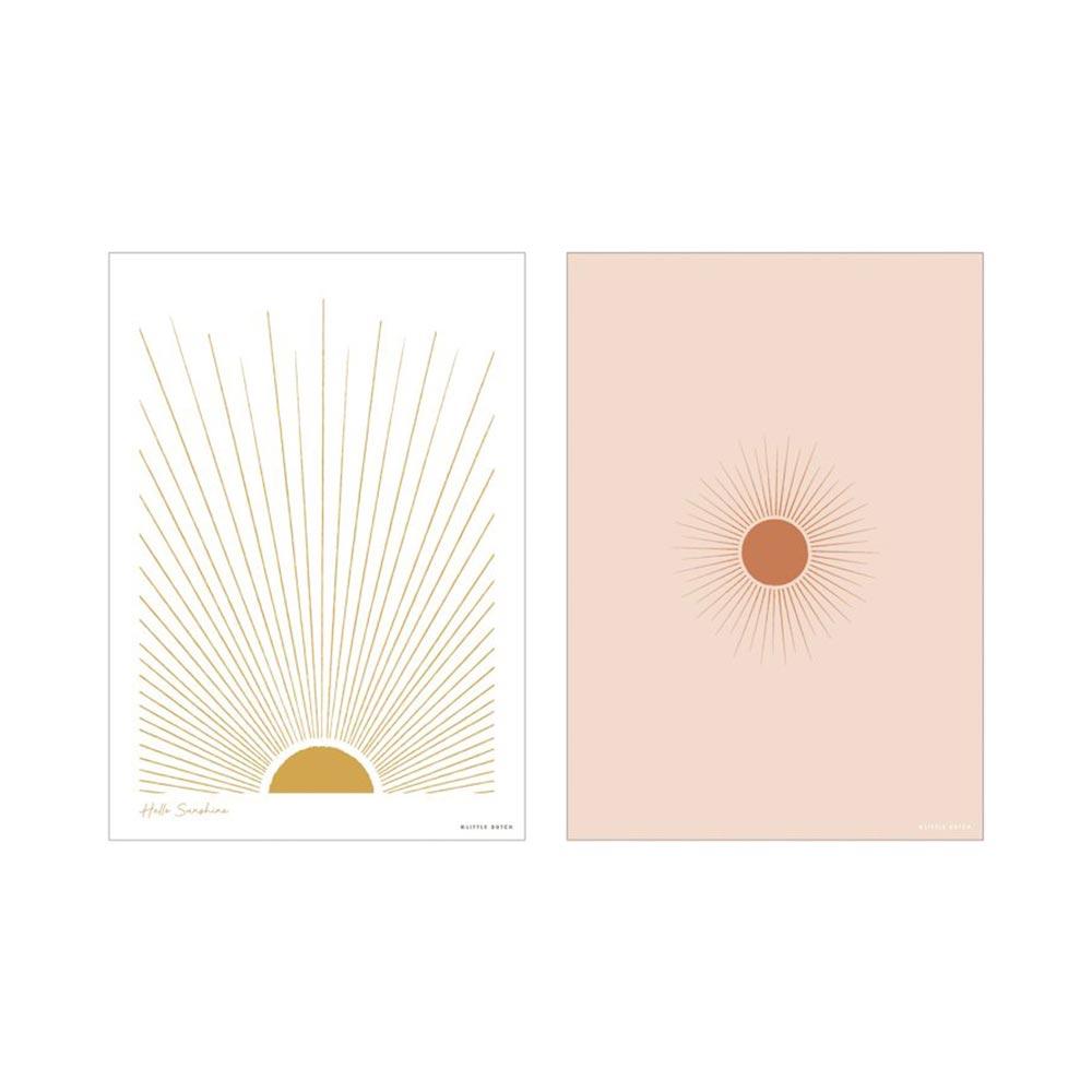 Poster A3 2 bedruckte Seiten Sunshine