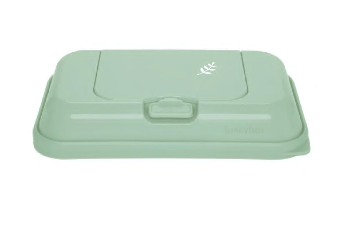 Feuchttücher Aufbewahrungsbox ToGo Blätter mint