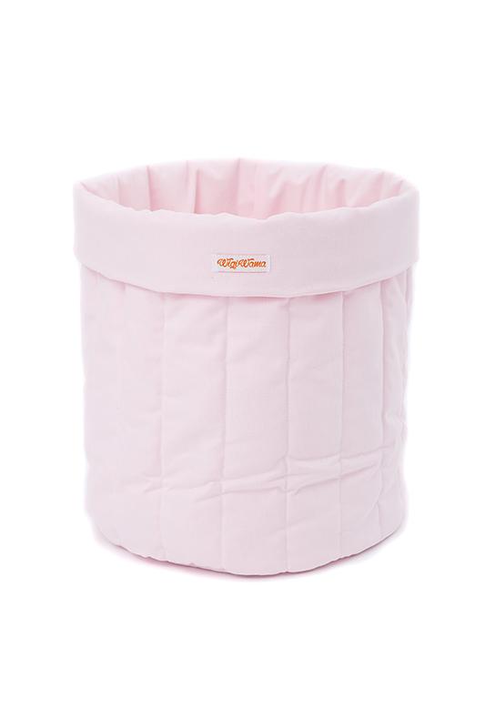 Stoff Aufbewahrungskorb rosa groß 55x40 cm