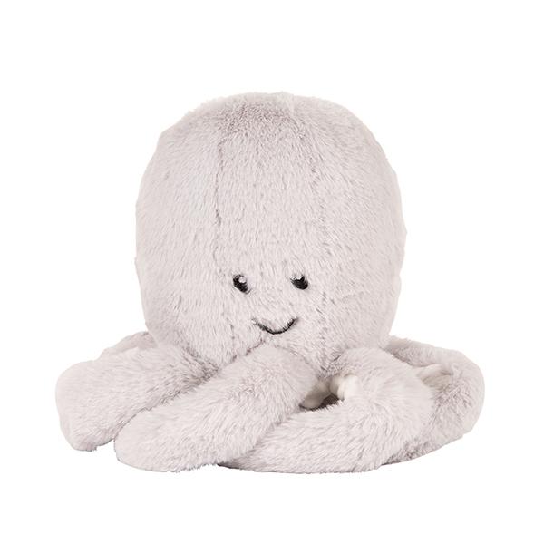 Einschlafhilfe Stofftier Plüschtier mit Comforter Spieluhr Oktopus Olli grau 21 cm
