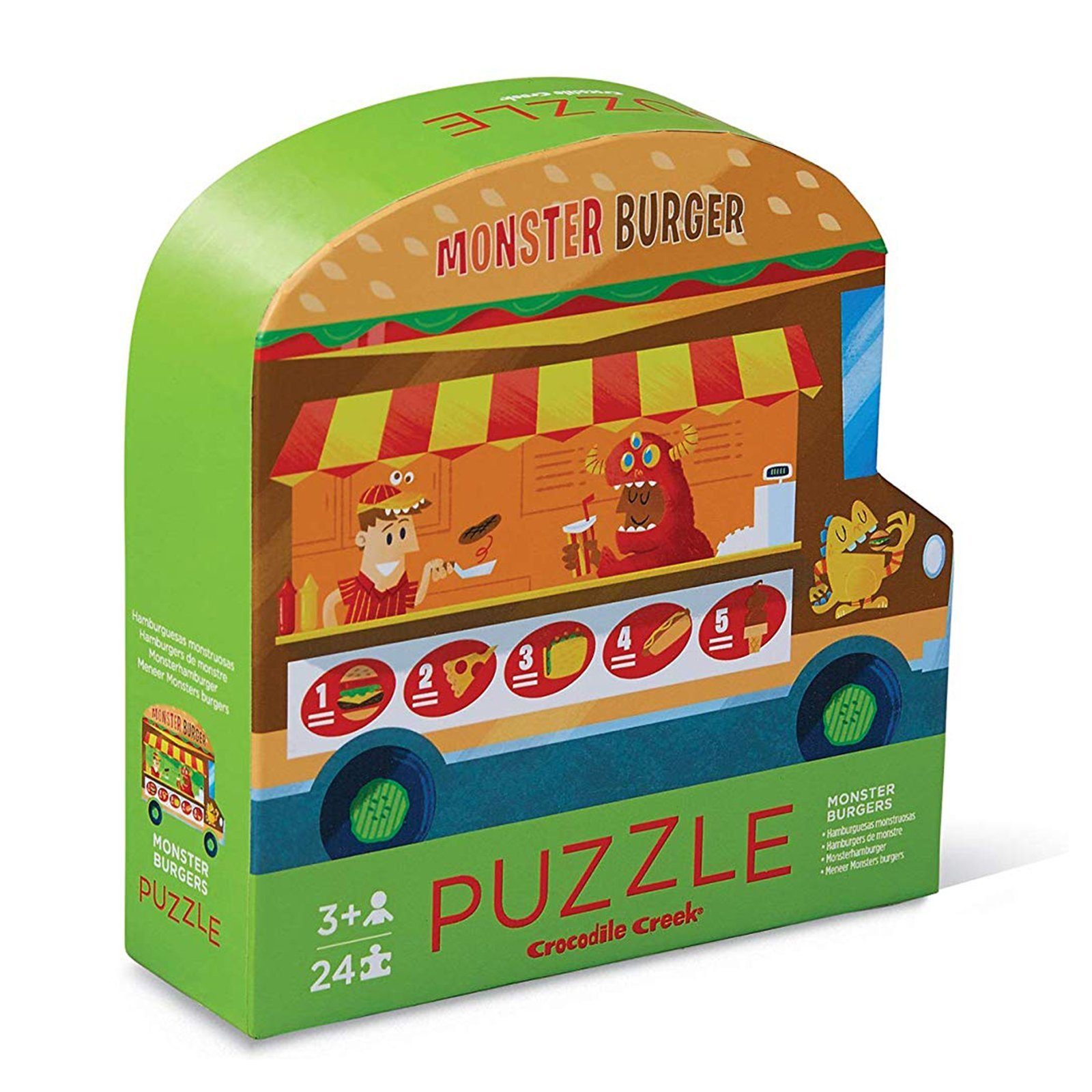 Mini Puzzle Monster Burger beidseitig 24 Teile