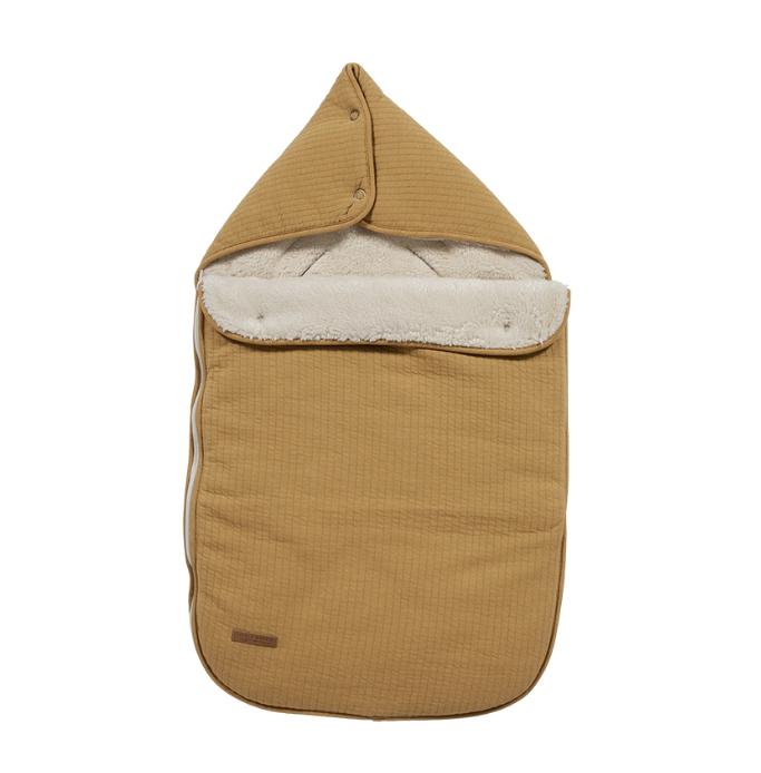Fußsack für Babyschale Pure ocker gelb