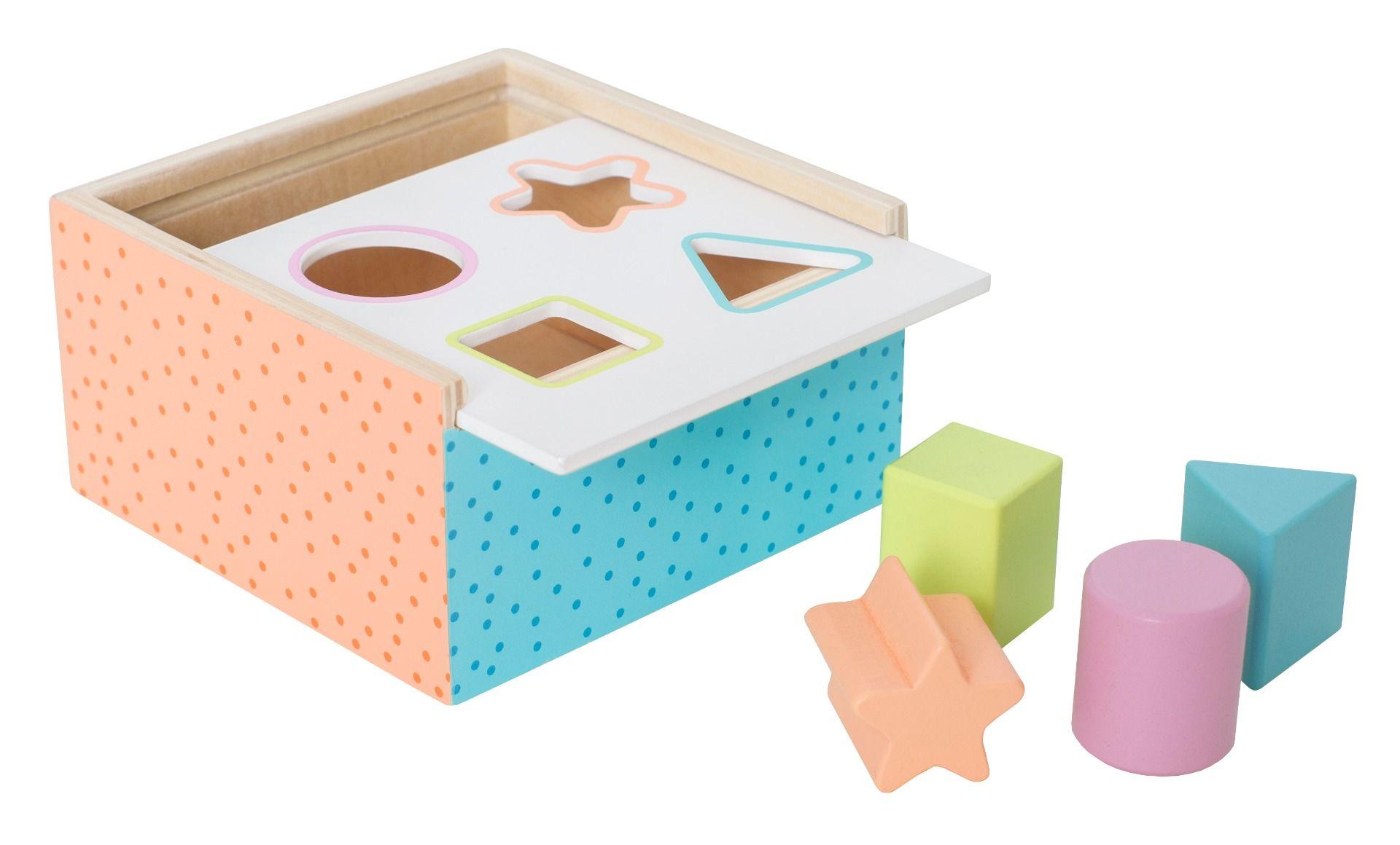 Holz Steckspiel Sortierbox bunt