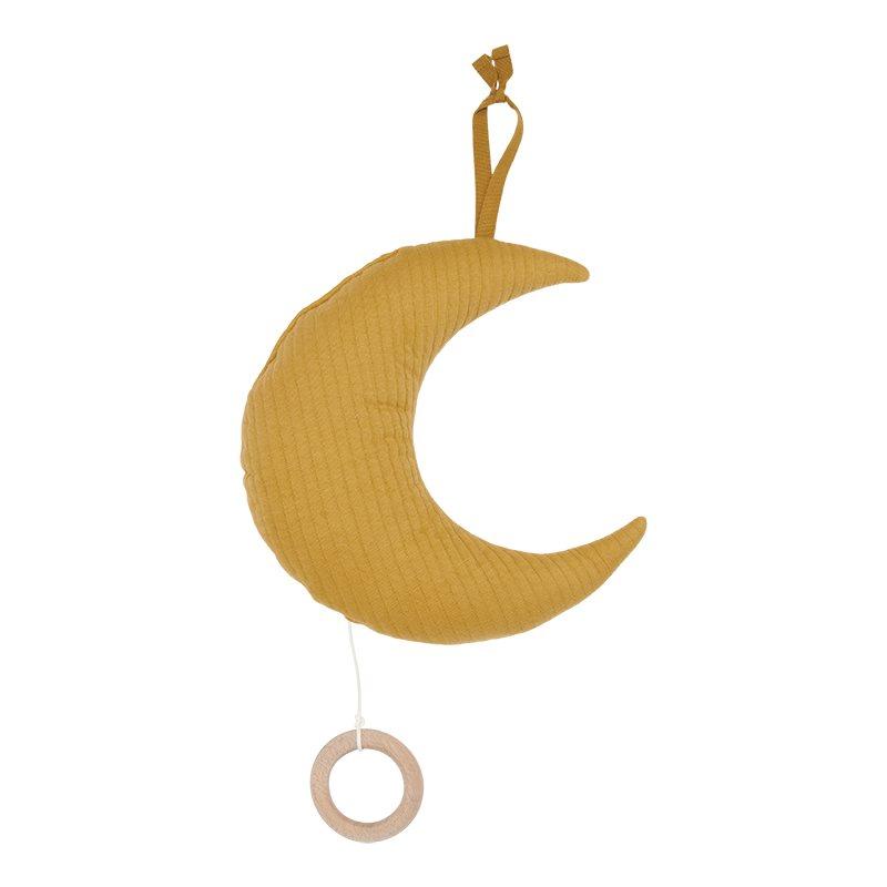 Spieluhr Mond Pure ocker gelb