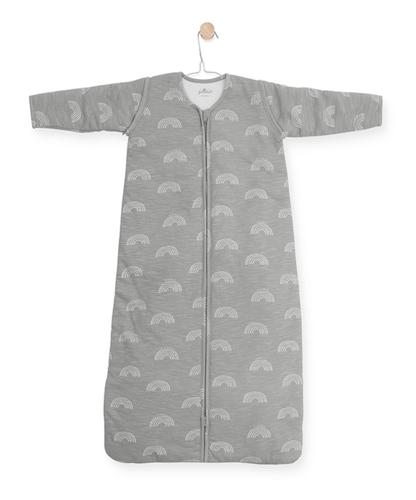 4 Jahreszeiten Schlafsack mit abnehmbaren Ärmeln Regenbogen grau 110 cm