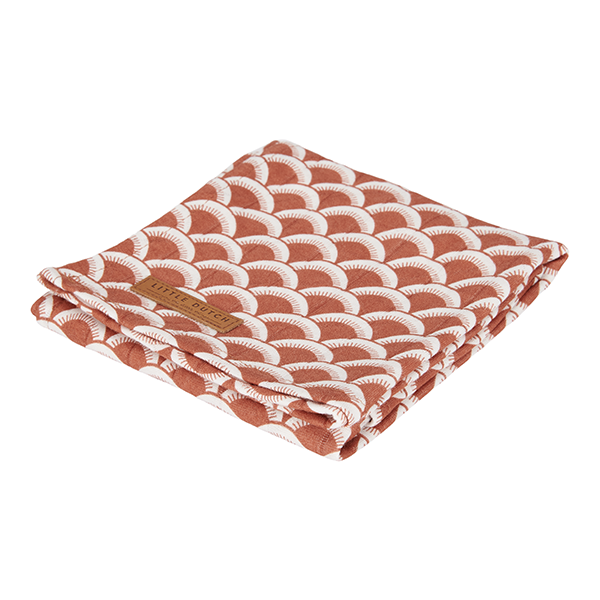 Musselin Swaddle Tuch / Pucktuch Sunrise rost (Gr. 120x120 cm)