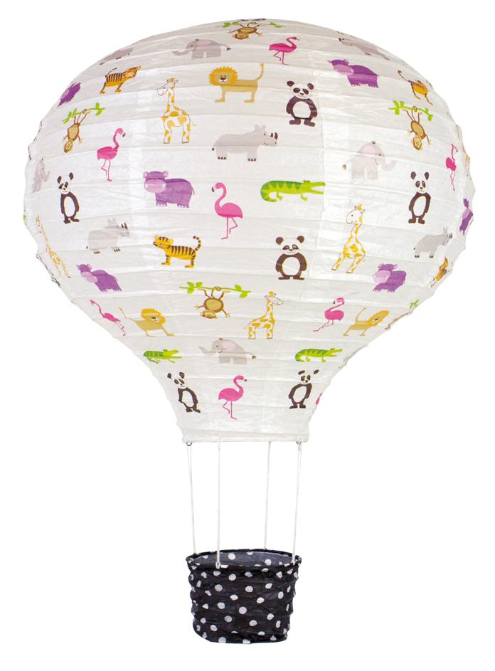 Lampenschirm Papier Ballon Safari 40 cm