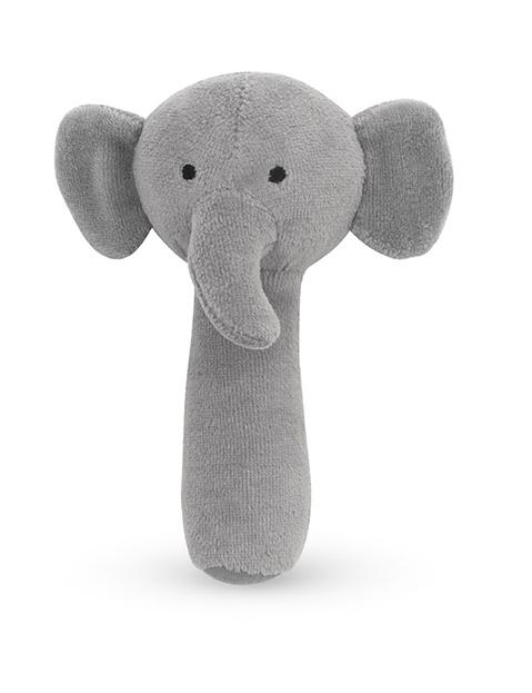 Jollein Greifling Rassel Elefant Samt grau