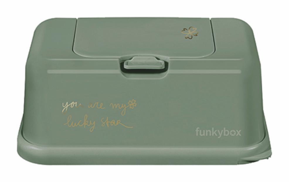 Feuchttücher Aufbewahrungsbox Kleeblatt grün