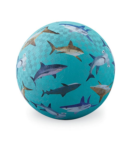 Naturkautschuk Ball Haifische hellblau Ø 18 cm