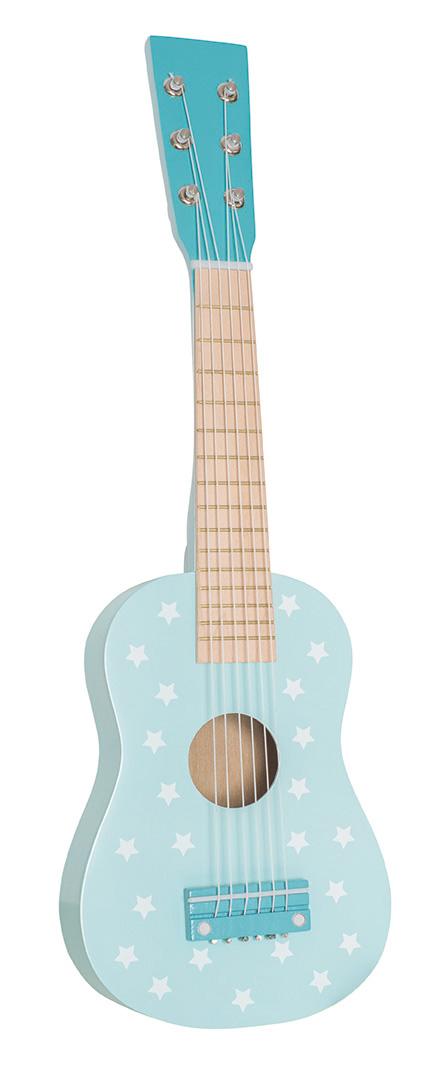 Holz Kindergitarre türkis