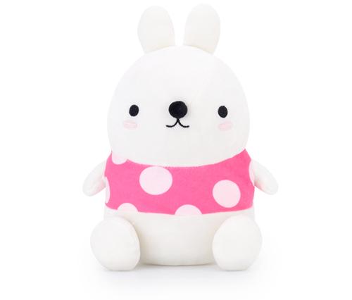 Metoo Stofftier Kuscheltier Hase Kaninchen weiß pink 30 cm
