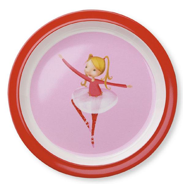 Melamin Teller Ballerina rosa rot