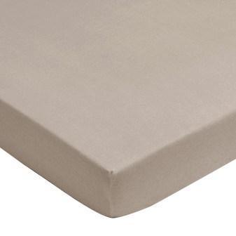 Spannlaken Jersey sand 60 x 120 cm