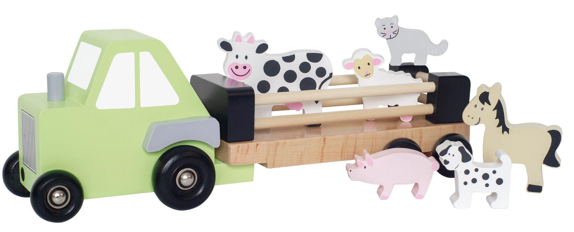 Holz Auto Truck Bauernhof Tiertransporter