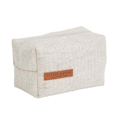 Pflegetasche Täschchen Etui für Unterwegs Pure grau