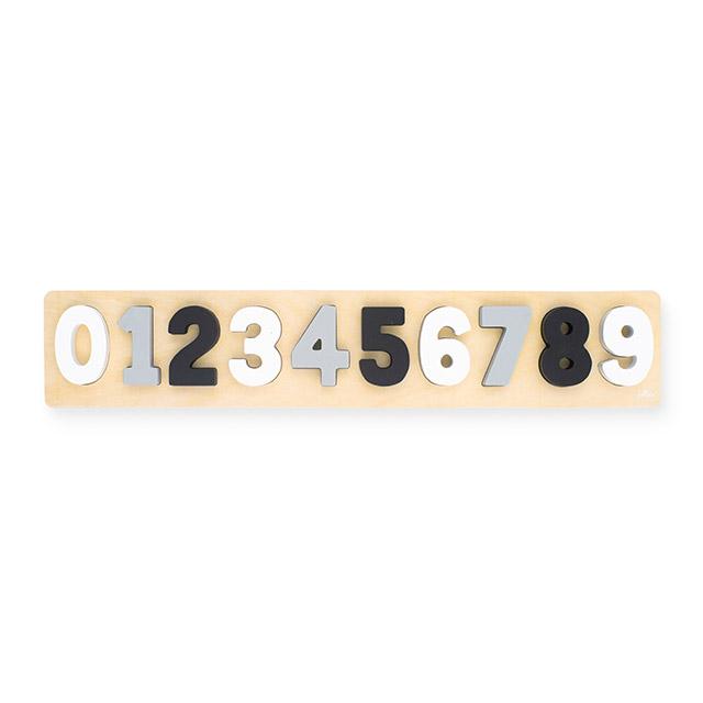 Jollein Holz Puzzle Zahlen grau