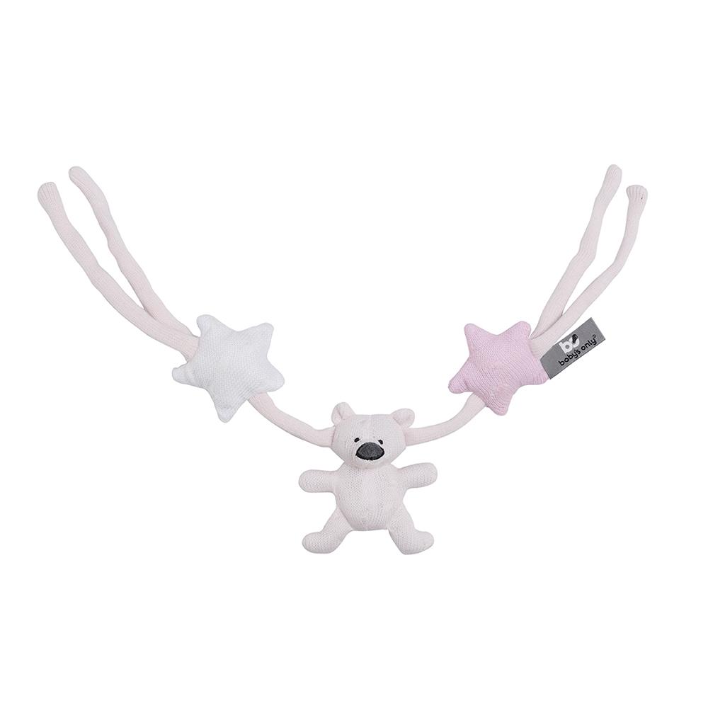 Kinderwagenkette Spielkette Bär Stern rosa/weiß