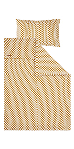 Kinderbettwäsche Sunrise ocker (Gr. 100x140 cm + 40x60 cm)