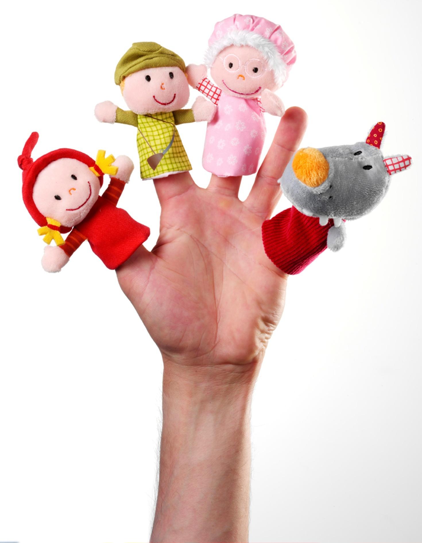 Fingerpuppen Rotkäppchen