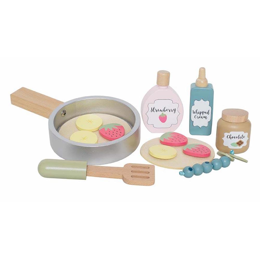 Holz Pancakes / Pfannkuchen Set