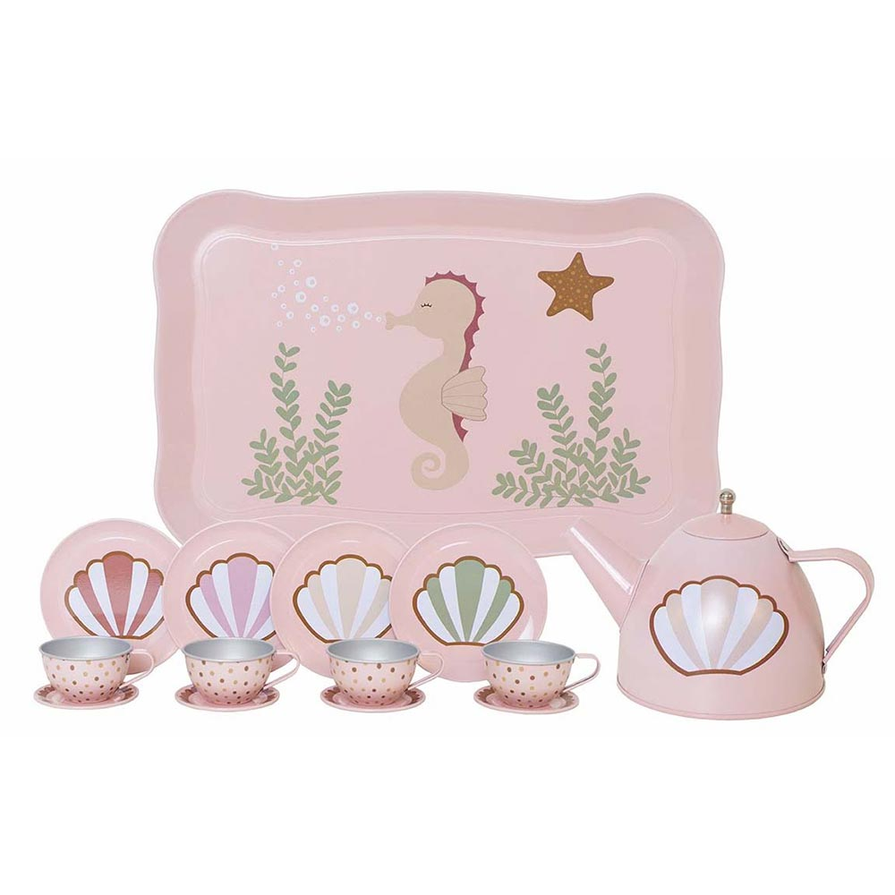 Tee-Set Seepferdchen rosa