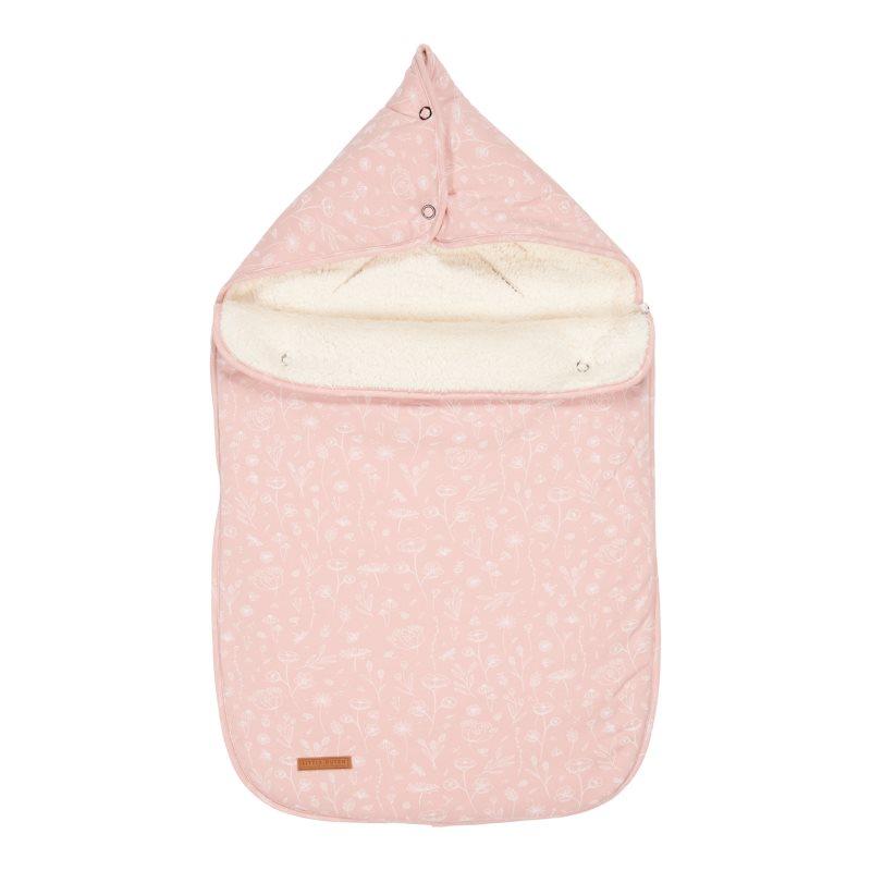 Fußsack für Babyschale Wild Flowers rosa 77x50x6 cm