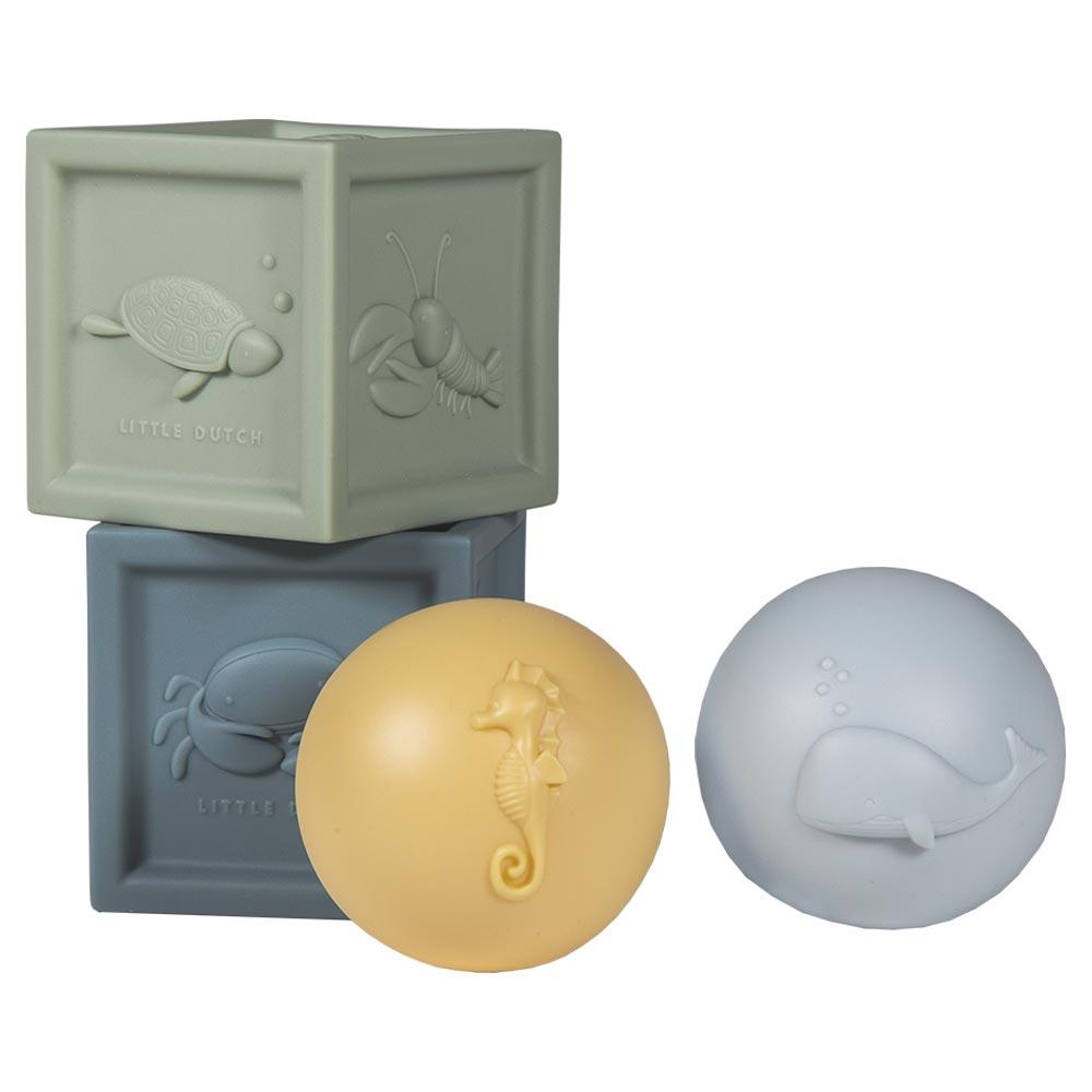 Würfel Bälle Set Ocean Badespielzeug (4-teilig)