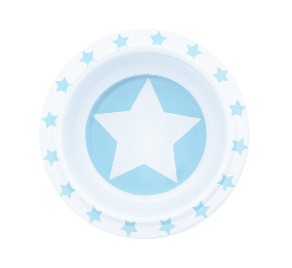 Schale Melamin STARS hellblau