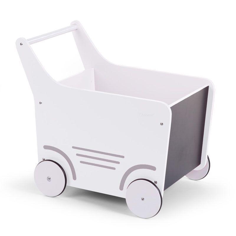Holz Lauflernwagen weiß