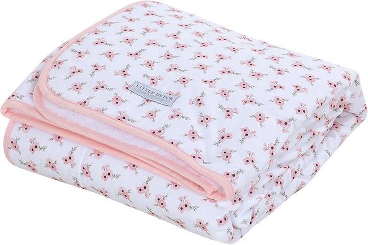 Babydecke mit Nickistoff Poppy peach 70x100 cm