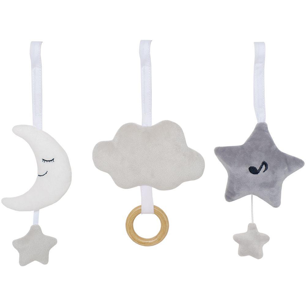 Anhänger für Babygym und Babyschale Mond Stern Wolke