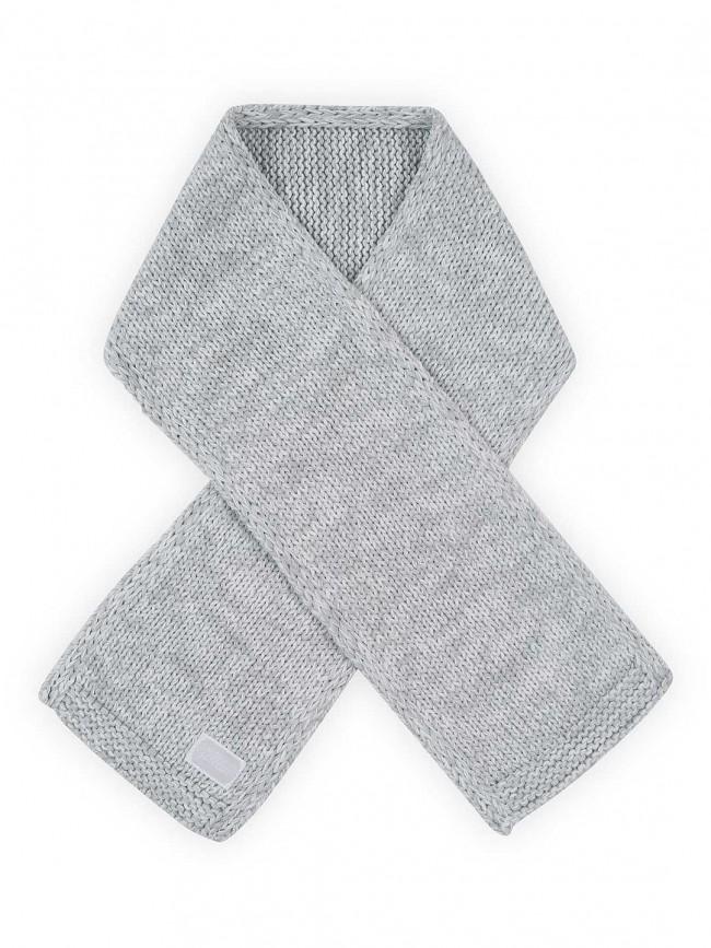 Strick Schal Melange grau