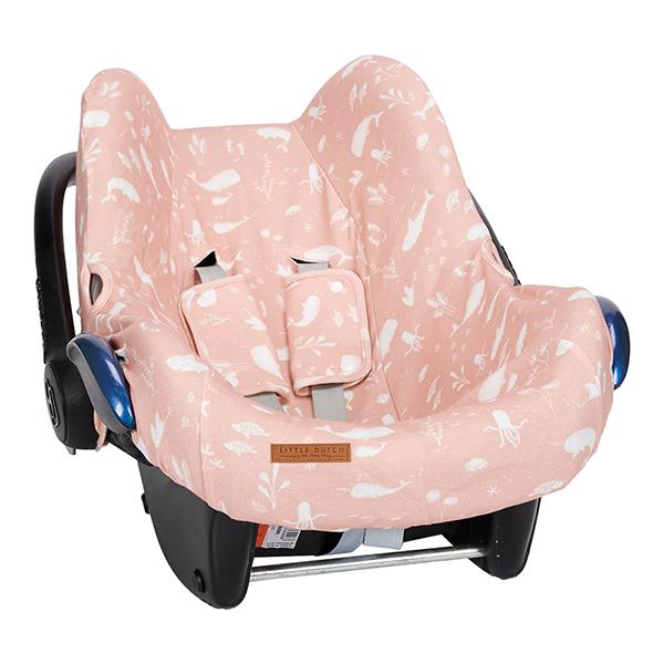 Bezug für Babyschale Ocean rosa