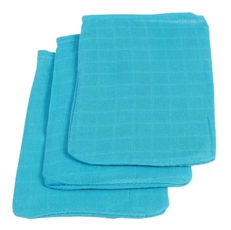 Waschlappen blau 3er Pack 15x20 cm