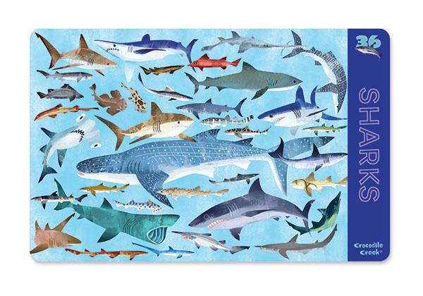 Platzset Tischset Haie (28cmx33,5 cm)