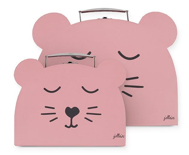 Spielzeug Koffer 2er Set Animal Club Bär rosa