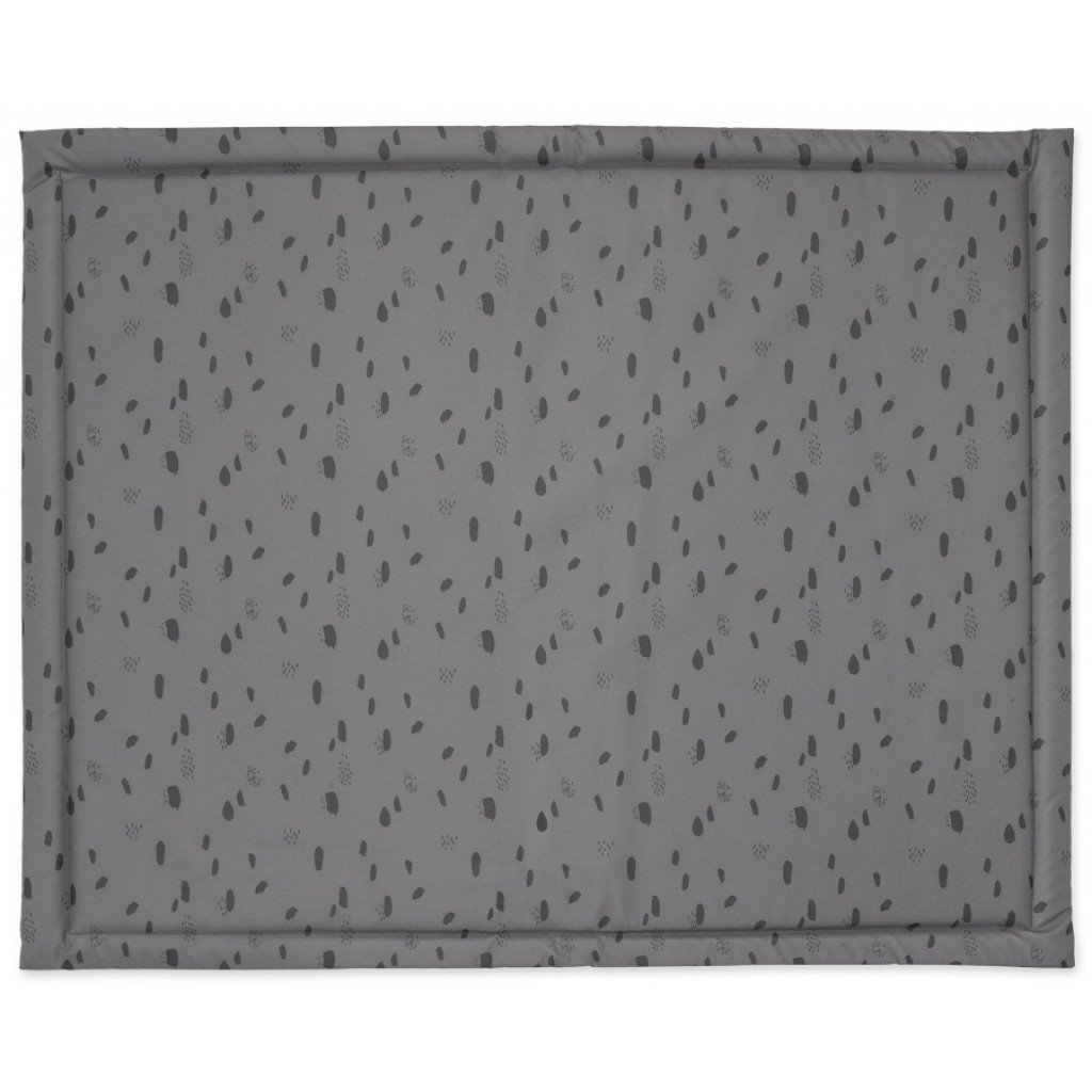 Laufgittereinlage Krabbeldecke Spot Tupfen grau (Gr. 75x95 cm)